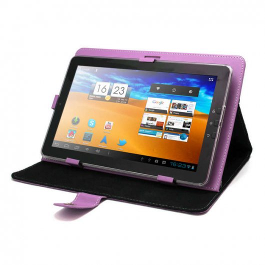 Funda universal morada para tablet pc 10 con soporte pccomponentes - Fundas para pc portatil ...