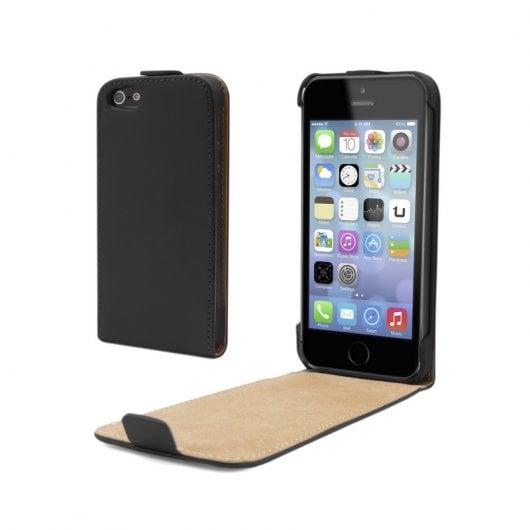 Funda flip vertical negra para iphone 5 5s pccomponentes - Fundas iphone 5s personalizadas ...