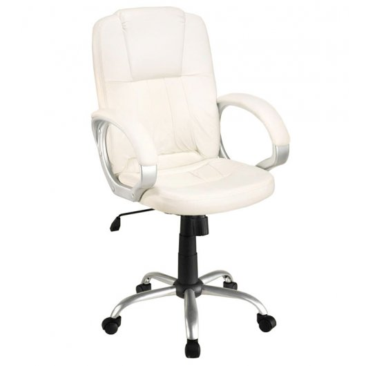 Silla de oficina stanford blanca reacondicionado for Silla oficina blanca
