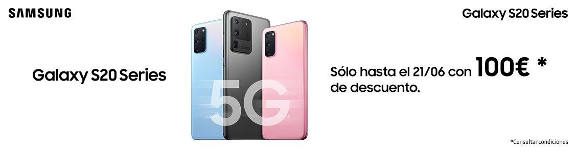 100€ de descuento en Samsung S20 5G ¡Promo PCC!