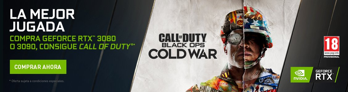 compra nvidia geforce rtx 3080 o 3090 y consigue call of duty black ops cold war