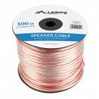 Lanberg Cable para Altavoz Transparente 2X4.0mm2 100m