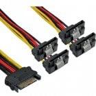 Inline Cable Divisor SATA a 4xSATA 15cm