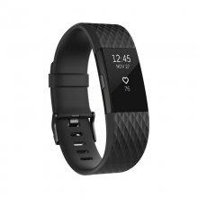 Fitbit Charge 2 Pulsera de Actividad Negra Ed. Gunmetal Grande