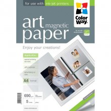 ColorWay Papel Fotográfico ART Glossy Magnetic 690 g/m2 A4 5 Unidades en PcComponentes