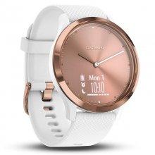 Garmin Vivomove HR Reloj Deportivo Talla S/M Rosa Oro con Correa Silicona Blanca