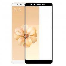 Protector Cristal Templado Negro para Xiaomi Mi A2/Mi 6X