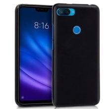 Cool Funda Silicona Negra para Xiaomi Mi 8 Lite