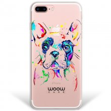 WoowCase Funda de Silicona Bulldog Francés para iPhone 8 Plus en PcComponentes