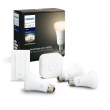 Philips Hue White Kit Puente+Mando+3 Bombillas LED E27 9W Blanca en PcComponentes