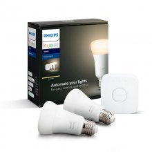 Philips Hue White Pack 2 Bombillas LED E27 9W Blanca + Puente en PcComponentes