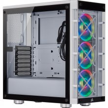 Corsair iCUE 465X RGB Cristal Templado USB 3.0 Blanca