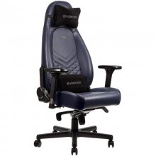 Noblechairs Icon Cuero Real Silla Gaming Azul/Grafito en PcComponentes