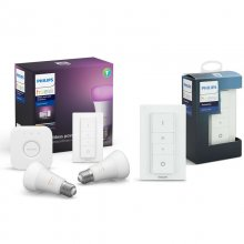 Philips Hue White and Color Ambiance Kit 2 Bombillas LED E27 9W Blanca + Puente + 2 Mandos en PcComponentes