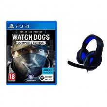 Pack Watch Dogs Complete Edition PS4 + Auriculares Gaming Nuwa Azules en PcComponentes