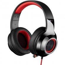Edifier V4 Auriculares Gaming USB Negro/Rojo