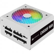 Corsair CX Series CX650F RGB White 650W 80 Plus Bronze Modular en PcComponentes