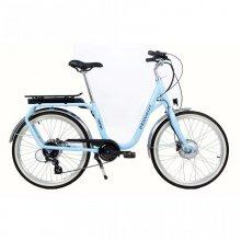 Peugeot Norton Bicicleta Eléctrica de Ciudad Azul