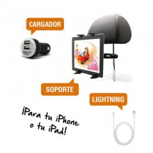Pack Soporte + Cable Lightning + Cargador para iPhone o iPad en PcComponentes