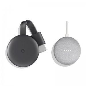 Google Chromecast + Google Home Mini Altavoz Inteligente y Asistente Gris