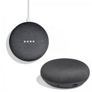 Pack 2x Google Home Mini Altavoz Inteligente y Asistente Carbón