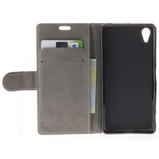 Funda Flip Cover Negra para Xperia X Performance