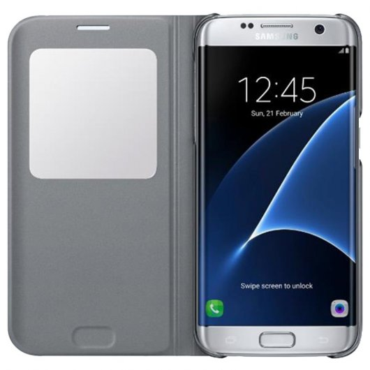 Samsung S View Cover Silver para Galaxy S7 Edge