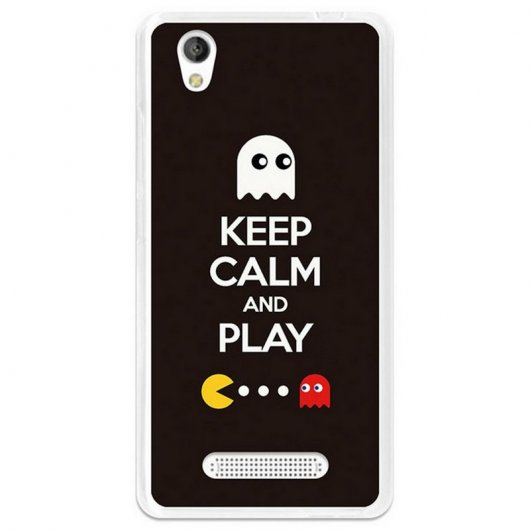 BeCool Funda Gel Keep Calm Comecocos para ZTE Blade