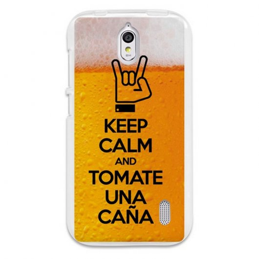 BeCool Funda Gel Keep Calm Caña para Huawei Y625