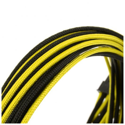 CableMod Basic Cable Extension Kit - 6+6 Pin Series - Pin Negro y Amarillo