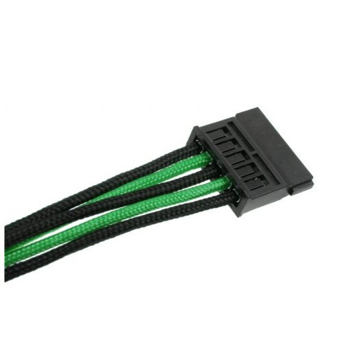 CableMod C-Series AXi, HXi & RM ModFlex Cable Kit - Negro y Verde