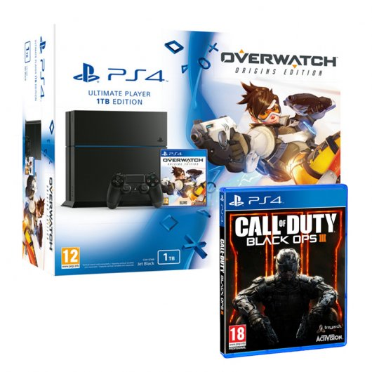 Sony PS4 PlayStation 4 1TB + Overwatch Origins + Call Of Duty: Black Ops III