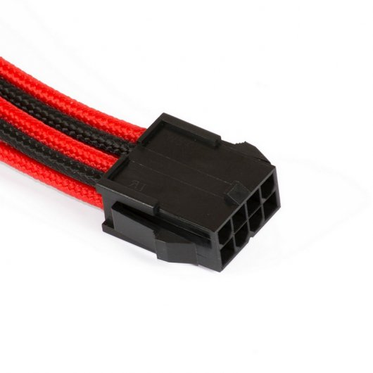 Phanteks CB8P Cable Extensión Placa Base 4+4 Pines Negro/Rojo