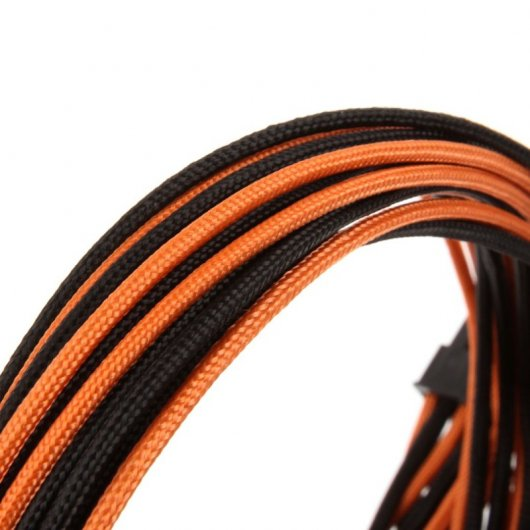 CableMod C-Series RMi / RMx Basic Cable Kit - Negro/Naranja