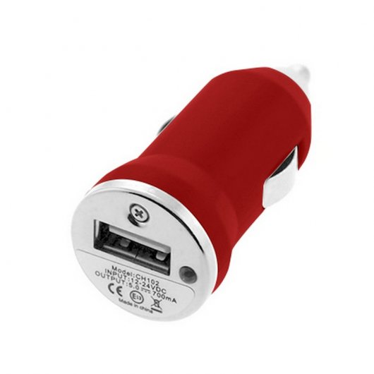 Cargador 3 en 1 Coche/Red/USB Rojo para Iphone 5/5S/5C/6/6Plus