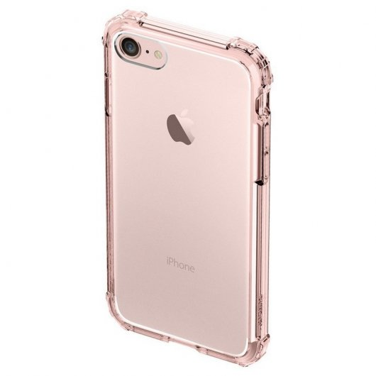 Spigen Crystal Shell Carcasa Rosa para iPhone 7
