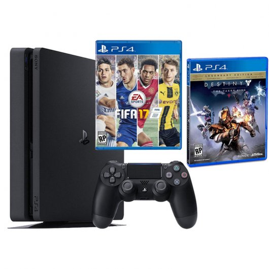 Sony PS4 PlayStation 4 Slim 1TB + Fifa 17 + Destiny El Rey de los Poseídos