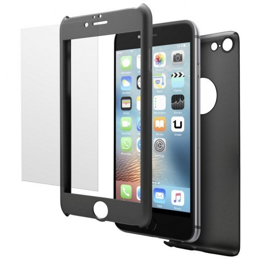 Unotec Pack Full Protect Negro para iPhone 6/6S