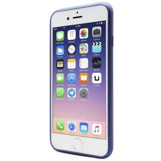 Unotec Second Skin Funda Azul para iPhone 6/6S