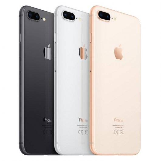 apple iphone 8 plus 64gb cinzento sideral. Black Bedroom Furniture Sets. Home Design Ideas