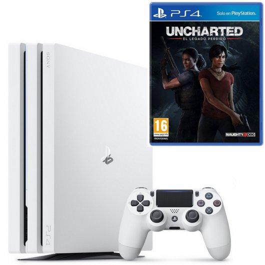 Sony PlayStation 4 Pro 1TB Blanca + Uncharted El Legado Perdido PS4
