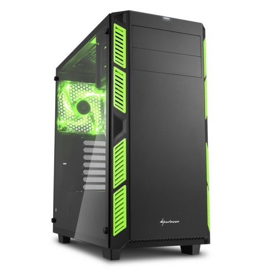 Sharkoon AI7000 Glass Cristal Templado USB 3.0 Negra/Verde