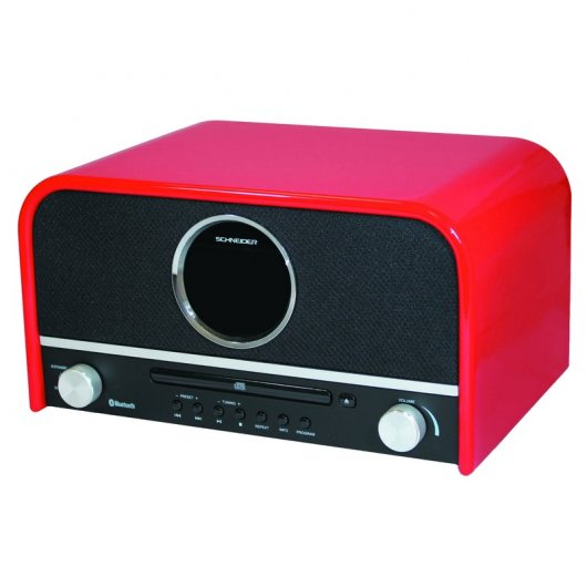 Schneider Feeling´s System Micro Cadena Bluetooth CD/MP3/USB Roja