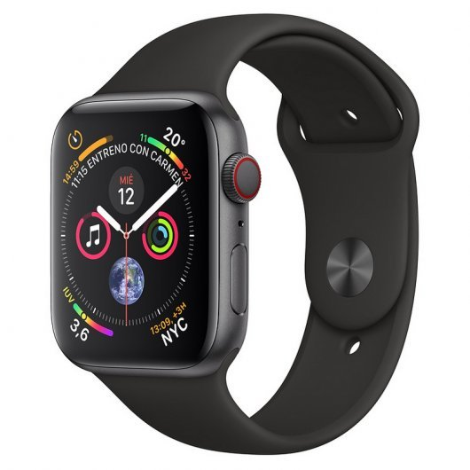 Apple Watch Series 4 GPS + Cellular 40mm Aluminio Gris Espacial con Correa Deportiva Negra