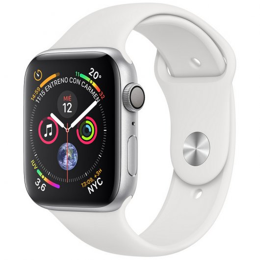 Apple Watch Series 4 GPS 40mm Aluminio Plata con Correa Deportiva Blanca