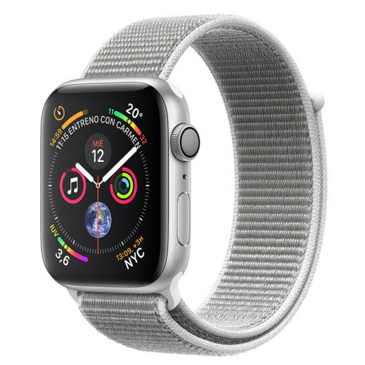 Apple Watch Series 4 GPS 44mm Aluminio Plata con Correa Loop Gris