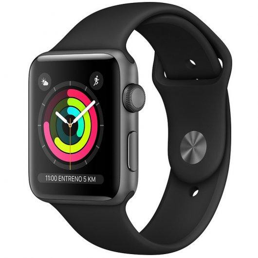 Apple Watch Series 3 GPS 38mm Aluminio Gris Espacial Con Correa Deportiva Negra