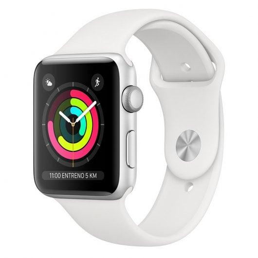 Apple Watch Series 3 GPS 38mm Aluminio Plata Con Correa Deportiva Blanca