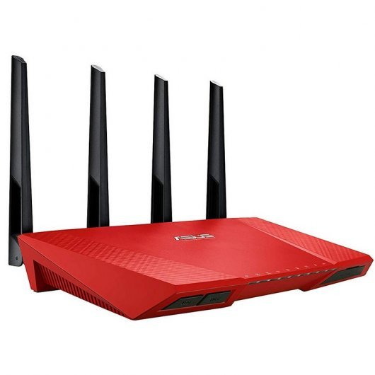 Asus RT-AC87U Router AC2400 Dual Band Rojo