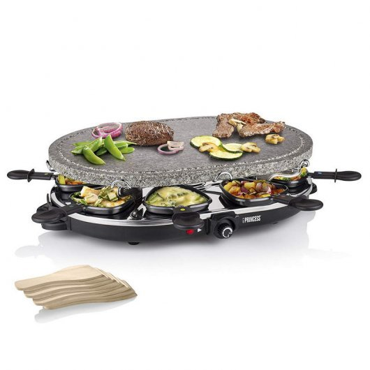 Princess 162720 Oval Stone Grill & Raclette Party Raclette de Piedra 1200W
